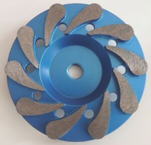5 Diamond Cup Wheel floor Grind Prep Resurface Fine Grit 4mm Hub High