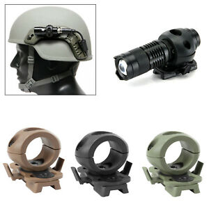 Outdoor Tactical Quick Release Flashlight Clamp Holder Mount Fast Helmet Clever