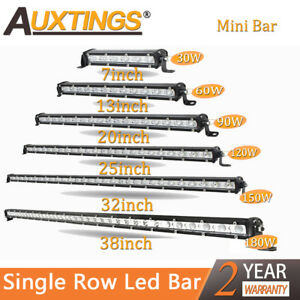 Super Mini 7 13 20 25 32 38 Inch Led Light Bar Single Row Work Lights