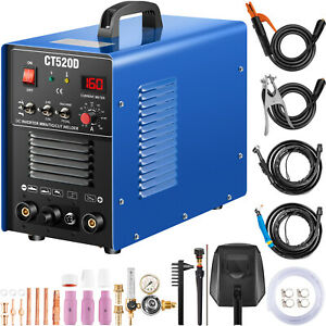 Ct520d Plasma Cutter Tig Arc stick 3 in 1 Welder 50a 200a 110 220v Dual Voltage