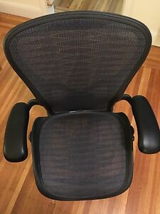 Herman Miller Aeron Large Size Tuxedo Pattern Posture fit Back Support