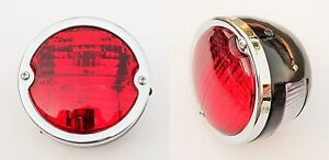 2x Round Tail Stop Light With Licence Plate Window Vintage Tractor