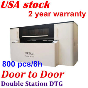 Us Double Station Direct To Garment Printer industrial Printing Heads Panasonic