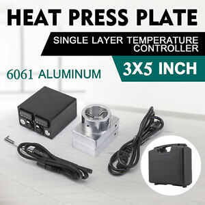 3 x5 Heat Press Plate Kit Singler Layer Temperature Controller With Heating Rod