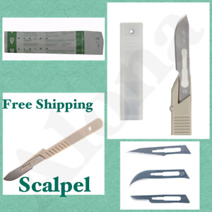 Sterile Disposable Scalpel With Carbon Steel Blade Plastic Handle