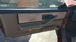 91 92 Firebird Trans Am Door Panel Tan Cloth Pw Lh Used With Arm Rest