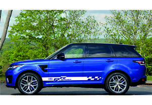 Range Rover 2x Side Stripes Body Decal Vinyl Graphic Sticker Logo land Rover