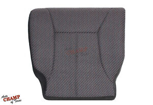 1998 1999 2000 Dodge Ram 2500 Work Truck driver Bottom Cloth Seat Cover Dk Gray