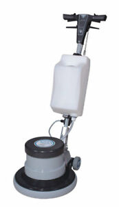 Industrial Floor Polisher Machine With 1 Tank 2 Brushes 1 Pad Holder 3 Pa