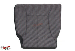 2001 2002 Dodge Ram 3500 Work Truck Driver Side Bottom Cloth Seat Cover Dk Gray