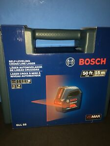 Bosch Self leveling Cross line Laser Gll 55 New