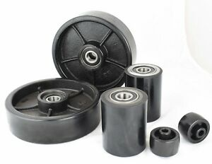 Brand New Pallet Jack truck Poly Wheels Set 6 Pcs With Bearings