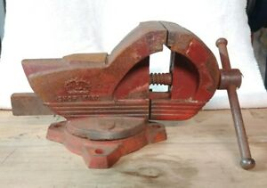 Vintage Wilton Swivel Bench Vise Shop King Chicago 14 Made In Usa