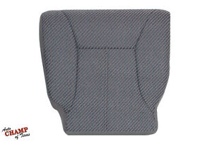 1998 1999 2000 Dodge Ram 2500 Work Truck W t driver Bottom Cloth Seat Cover Gray