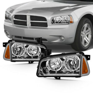 05 10 Dodge Charger Pair Replacement Headlight Corner Lamp Complete Assembly Set