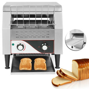New 2 2kw Commercial Conveyor Toaster Restaurant Equipment Bread Bagel Food Top
