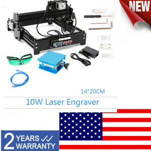 Usb Engraver 10w Diy Desktop Cnc Engraver Metal Laser Cutter Engraving Machine