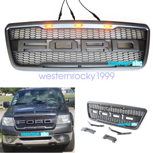 Aggressive Raptor Style 2004 2008 Ford F150 Front Grille Bumper Grill W ford