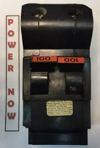 Federal Pacific Fpe Stab lok Breaker 2 Pole 100 Amp 240v Thick Ships Priority