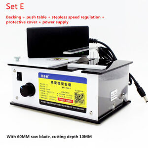 Mini Precision Table Saw Handmade Woodworking Bench Diy Bench Cutter 8000rpm Y