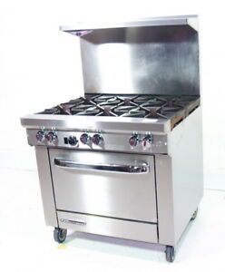 Used Southbend S36d 6 Burner Nat Gas Restaurant Range