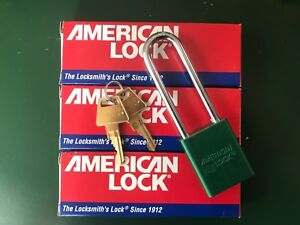 Lot Of 3 Key Match American Lock A1107kagrn Padlock Ka Green 1 4in Dia