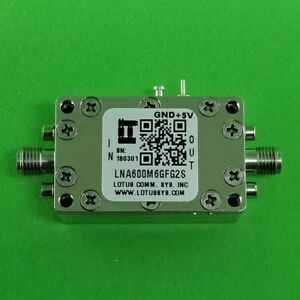 Low Noise Amplifier 0 9db Nf 600m 6ghz 39db Gain 19dbm P1db 2 Stage