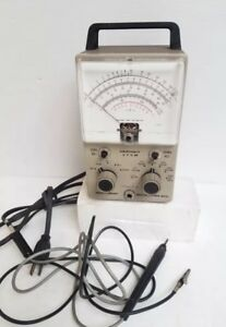 Vintage Heathkit Vtvm Vacuum Tube Voltmeter Model Im 18 With Leads