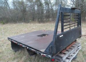 Flat Bed With Gooseneck Ball And Head Ache Rack Facotory Built North Texas