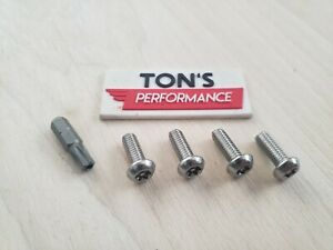 Security Anti Theft Luxury Auto License Plate Screws Stainless Bolts For Lexus