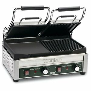 Waring Commercial Wpg300 Panini Tostato Ottimo Dual Italian style Grooved