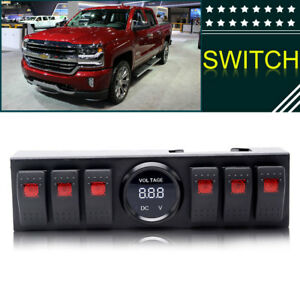 6 Rocker Switch Panel With Voltmeter Switch Panel Jk For Jk 2011