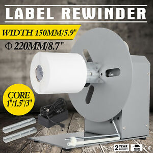 Automatic Label Tag Rewinder Rewinding Machine 6 Width 3 Cores 110v 150mm