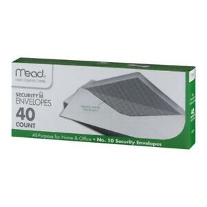 Mead Security Envelopes 10 40 Count 75214 4 1 8 X 9 1 2