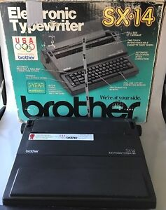 Brother Sx 14 Electronic Typewriter Tested In Great Working Condition