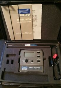 F w Bell 5070 Gaussmeter With Probe And Case Tesla Meter Magnetometer