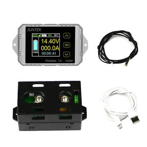 Dc 120v Wireless Ammeter Voltage Display Kwh Watt Meter Car Battery Coulometer