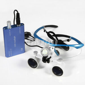 Portable Dental Led Headlight Lamp 3 5x r Loupes Magnifier Binocular Glasses