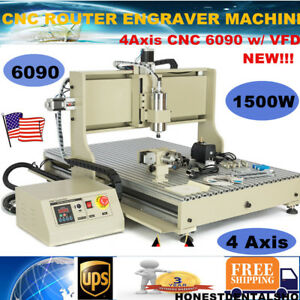 Usb Port 6090 4 Axis Cnc Router Engraver 1500w Vfd Engraving Mill Drill Machine