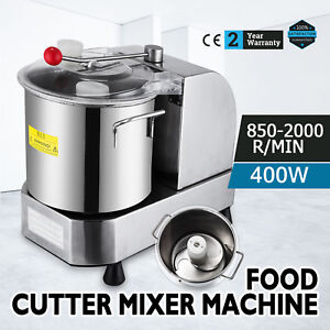 Stainless Food Cutter Mixer 6l Food Processor 850 2000 Rpm Food Grinder