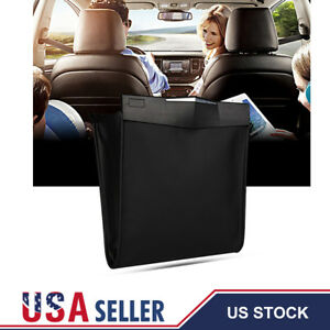 Car Trash Can Litter Garbage Bag Waste Basket Storage Folding Hanging Organizer