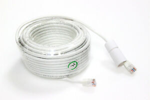 100ft Rj45 Cat5e 350mhz Lan Ethernet Patch Cable For Nvr Dvr Ip Smart Camera Use