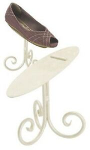 6 Ivory 6 Shoe Stands Display Metal Retail Cream Tilted Stay Ledge Shoes Heals