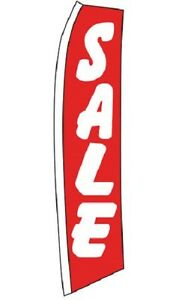 Wave Flag Sale Sign Retail Advertising 134 X 32 Outdoor Pole Ground Spike