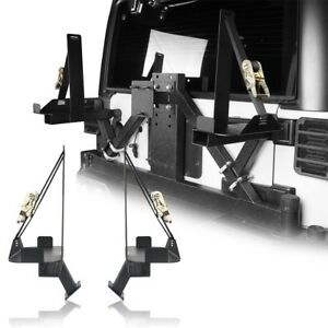 Black Steel Spare Tire Jerry Can Oil Drum Mounting Frame For Jeep Wrangler Jk