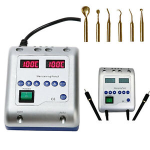 Fda Electric Dental Wax Waxer Machine With 6 Wax Tip Double Carving Pen Knife