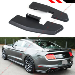 For 2015 2018 Ford Mustang Rear Bumper Corner Valance Side Spat Quarter Splitter