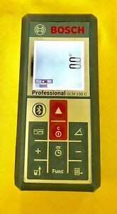Bosch Glm 100 C Bluetooth Laser Distance Finder And Angle Measure Used