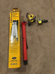 Lapr100 Rotary Laser Level With Receiver And Tripod And Ruler