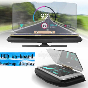 Car Folding Gps Hud Holder Head Up Display Projector Bracket Navigation Phone